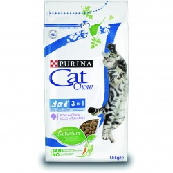 PURINA CAT CHOW Gatos Adultos Feline 3en1