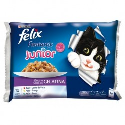 Purina Felix Junior Fantastic 4x100 gr